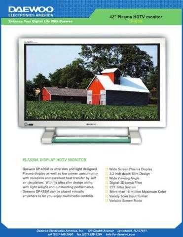 DAEWOO DP42SM USER MANUAL Manual by download #183919