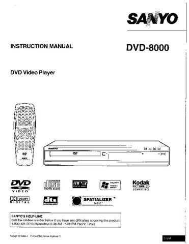 Sanyo DVD-7201 Manual by download #174155