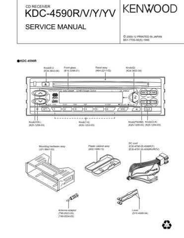 KENWOOD KDC-4590R V Y YV Technical Info by download #151869