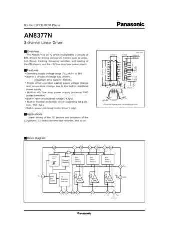 INTEGRATED CIRCUIT DATA AN8387SJ Manual by download Mauritron #186527
