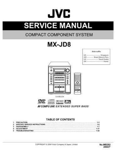 JVC MX-JD8UM Service Manual by download #156355