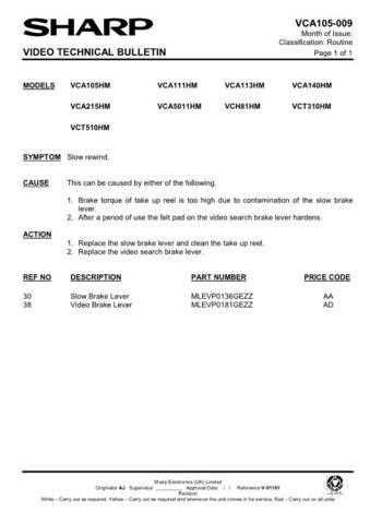 Sharp VCA501HM-015 Service Schematics by download #158337