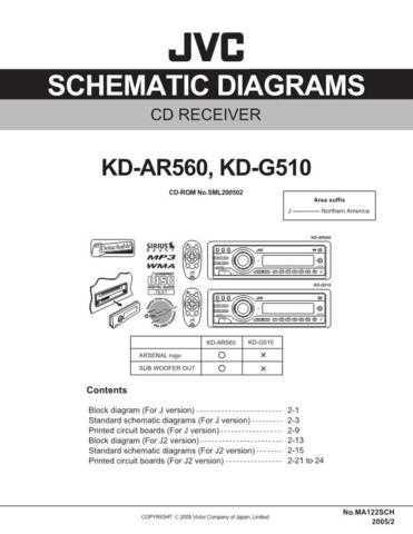 JVC KD-G510 - AR560 SCH Service Schematics by download #156090