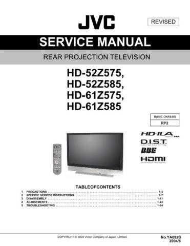JVC HD-52Z575 Service Schematics by download #155895