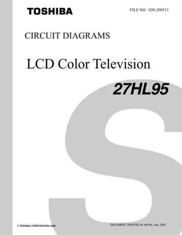 TOSHIBA 27HL95 CD Service Schematics by download #159821