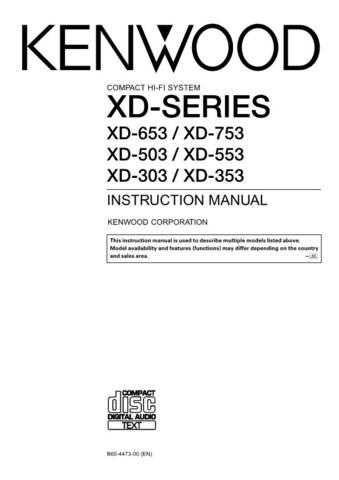 KENWOOD XD-753~653~553~353 (EN) Technical Info by download #148354