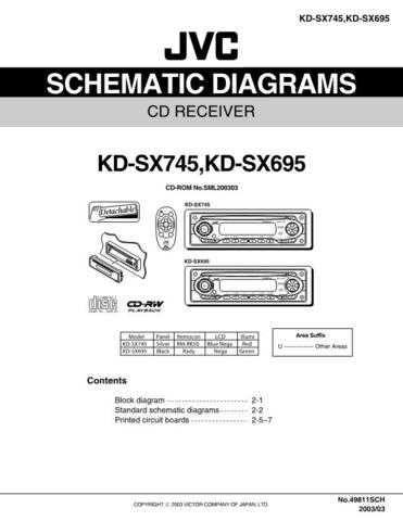 JVC KD-SX745-SX695 schem Service Schematics by download #156205