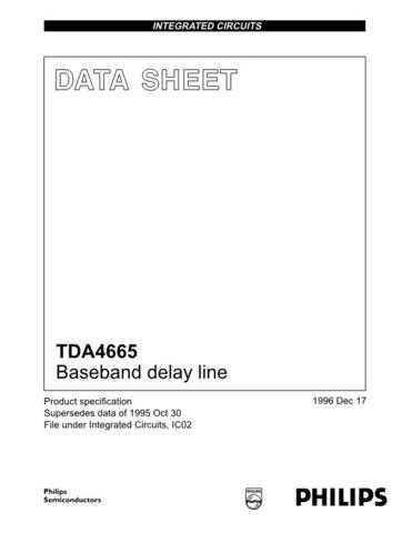 MODEL TDA4665 Service Information by download #124728