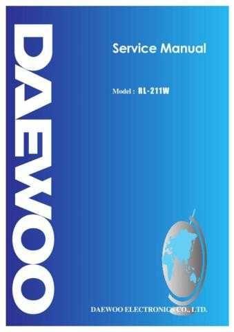 Daewoo RL-211 (E) Service Manual by download #155099