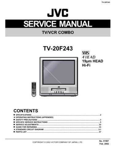 JVC TV-20F243 Service Manual by download #156580