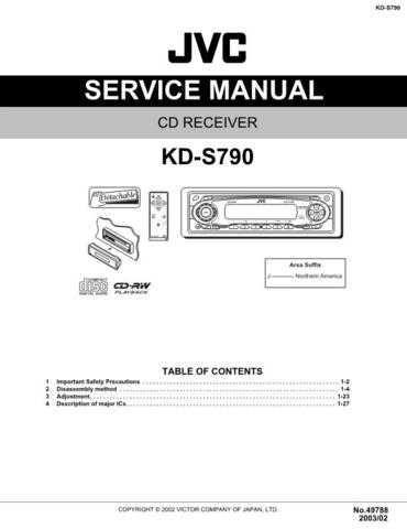 JVC KD-S790 Service Schematics by download #156179