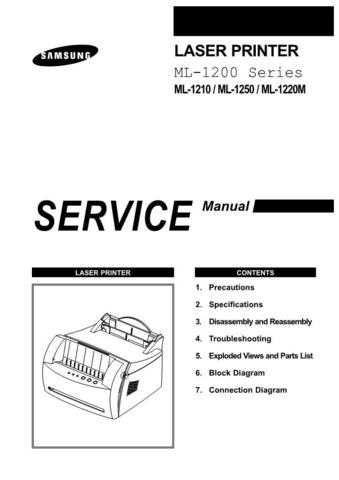 Samsung ML-1210 XAA0000051600E01 Manual by download #164533