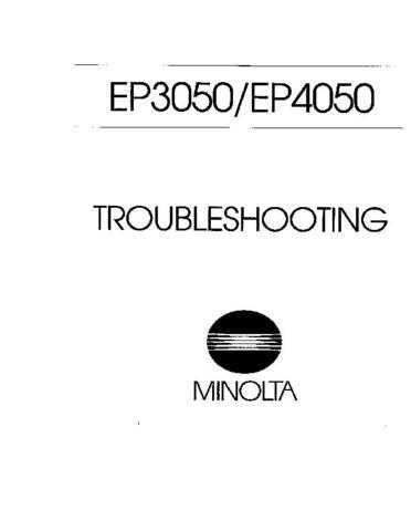 Minolta EP3050 4050 TROUBLESHOOTING Service Schematics by download #137501