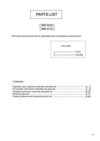 JVC MX-K30 Part Service Manual by download #156365