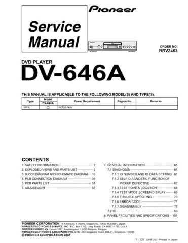 PIONEER R2453 Service Data by download #149636