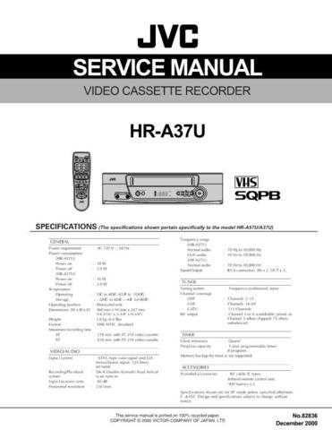 JVC HR-A37U Service Schematics by download #155915