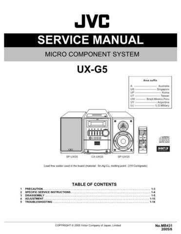 JVC UX-G5UW Service Manual by download #156599