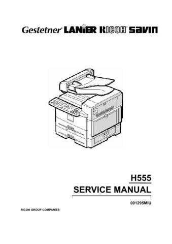 Lanier H555 Service Manual by download #156758
