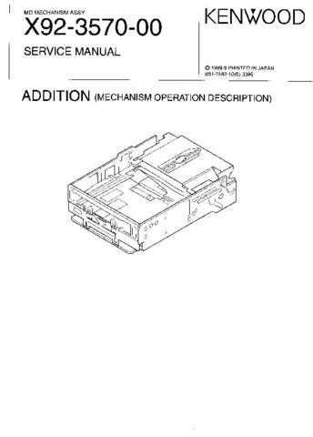 KENWOOD X92357000 Service Manual by download #151779
