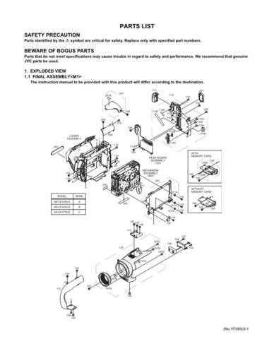 JVC GR-DF450US part Service Schematics by download #155635