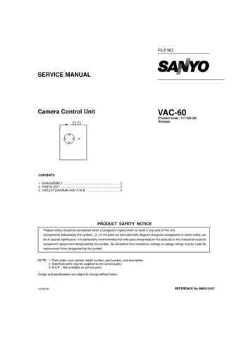 Sanyo Service Manual For VA-EXD1W Manual by download #176065