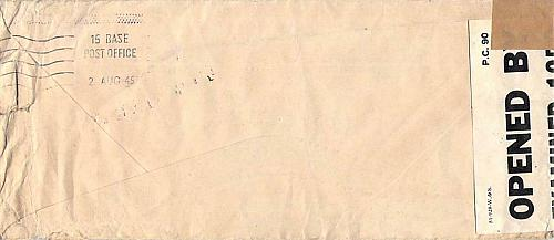 1945 War Department French Repatriation, Wiesbaden, Germany Censored Cover