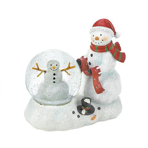 *18552U - Snowman LED Light Up Snow Globe Figurine