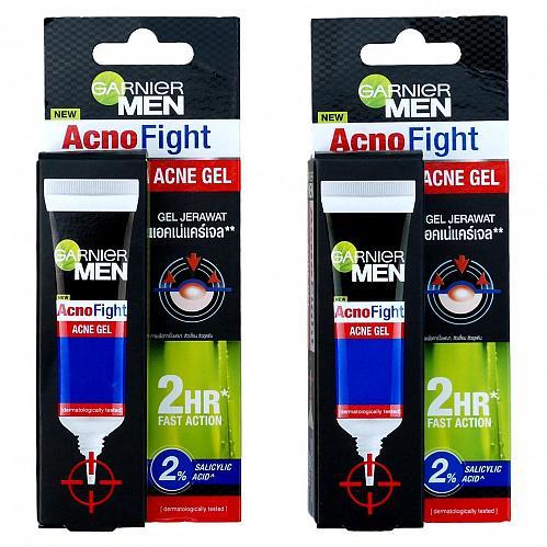 Garnier Men AcnoFight Acne Gel 10g Pack of 2