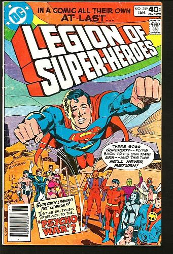 LEGION OF SUPER-HEROES #259 DC Comics 1st Print #1 Key Superboy Staton Conway