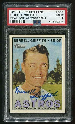 2016 TOPPS HERITAGE REAL ONE AUTO DERRELL GRIFFITH, PSA 9 MINT (41680214)