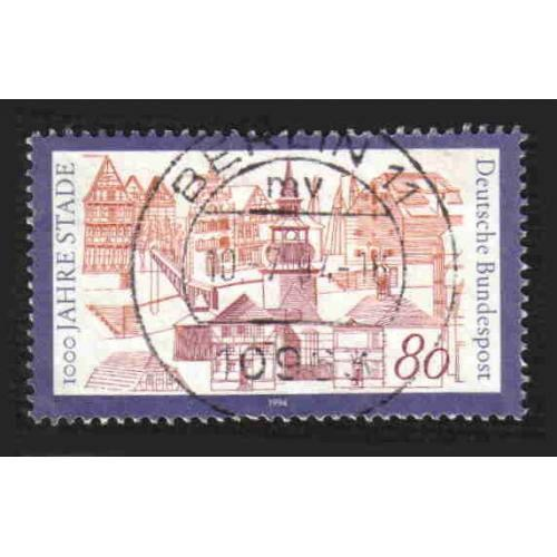 German Used Scott #1820 Catalog Value $.40