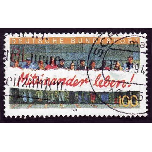 German Used Scott #1827 Catalog Value $.65