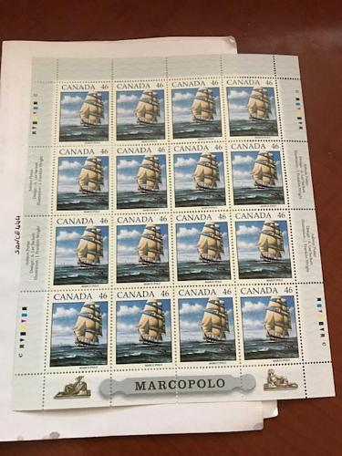 Canada - 1999 Sailing Ship Marco Polo sheet m/s mnh