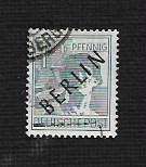 German Berlin Used Scott #9N5 Catalog Value $1.25