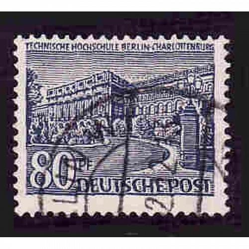 German Berlin Used Scott #9N55 Catalog Value $.75