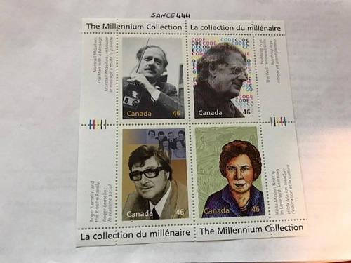 Canada Millenium Great Thinkers s/s mnh 2000