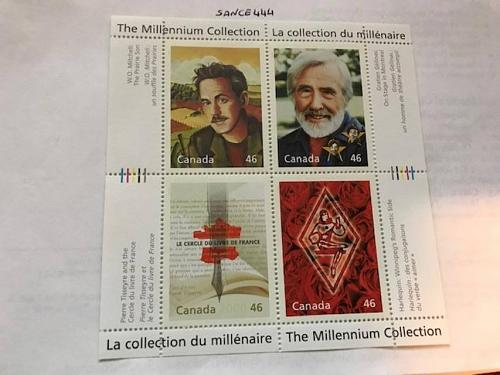 Canada Millenium Writers s/s mnh 2000