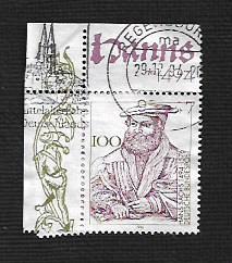 German Used Scott #1870 Catalog Value $.60