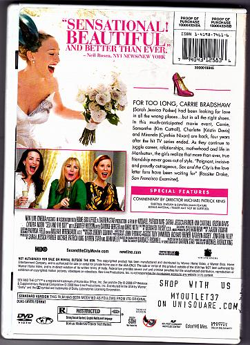 Sex and the City - The Movie - Full Screen Edition DVD 2008 - Very Good