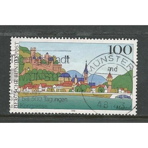 German Used Scott #1798 Catalog Value $.75