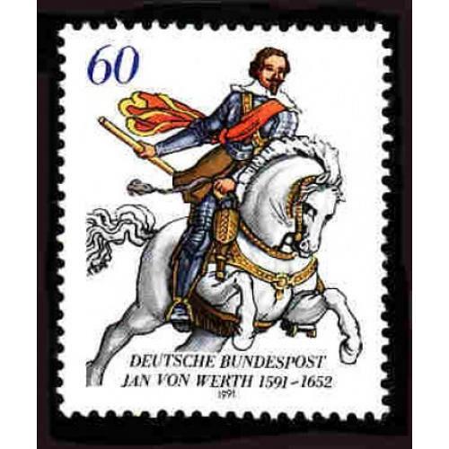German MNH Scott #1629 Catalog Value $1.00
