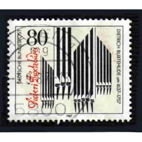 German Used Scott #1507 Catalog Value $.45