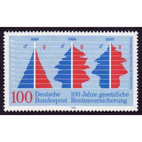 German MNH Scott #1582 Catalog Value $1.50