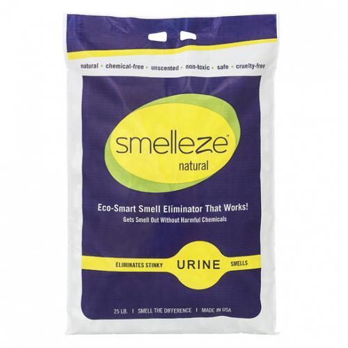 SMELLEZE Natural Urine Smell Deodorizer Granules: 25 lb. Bag Sprinkle 2-6 Tablespoons