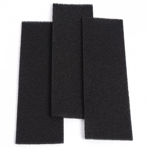 """SMELLRID Reusable Activated Carbon Vent Filter: (3) 4""""x14"""" Filters - Cut-to-Fit."""
