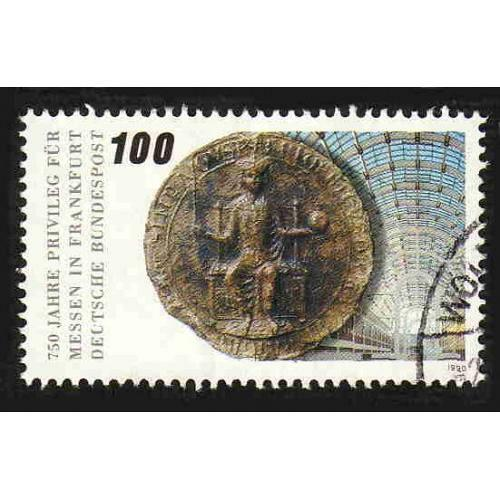 German Used Scott #1596 Catalog Value $.60