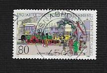 German Used Scott #1450 Catalog Value $.45