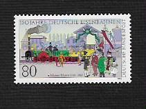 German MNH Scott #1450 Catalog Value $1.90
