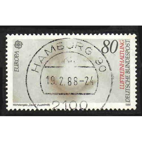 German Used Scott #1458 Catalog Value $.40