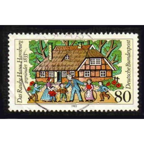 German Used Scott #1403 Catalog Value $.45